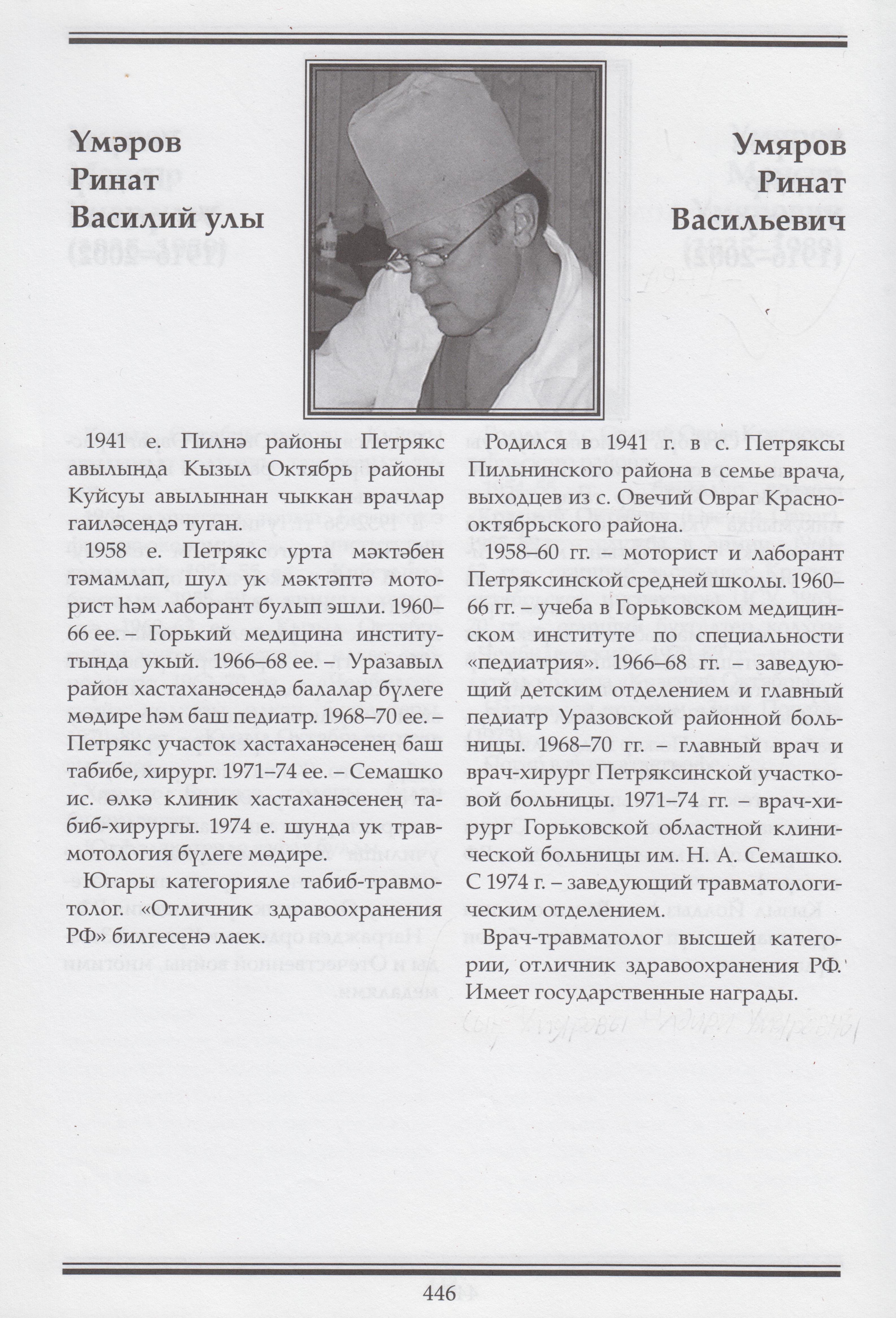 Умяров Ринат Василий улы